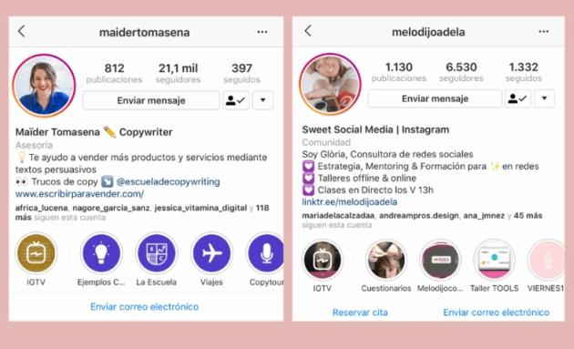 biografías de Instagram originales