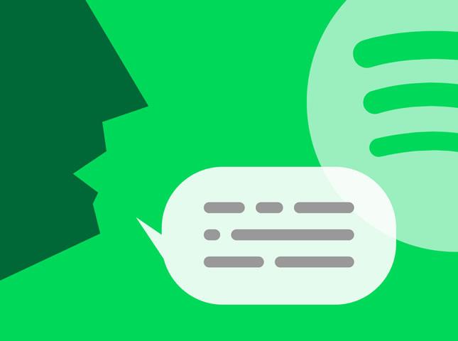Búsquedas por voz en Spotify
