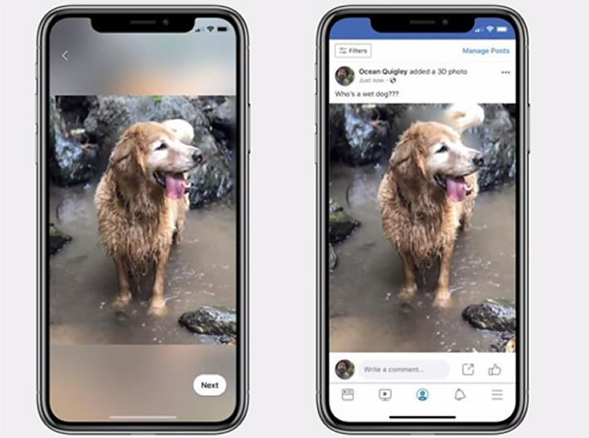 transformar tus imágenes normales a 3D con Facebook
