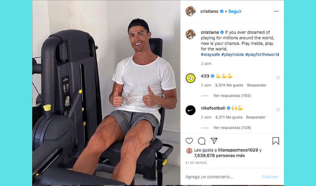 Cristiano Ronaldo contra el coronavirus
