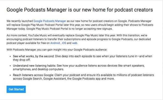 Por qué usar Google Podcast Manager