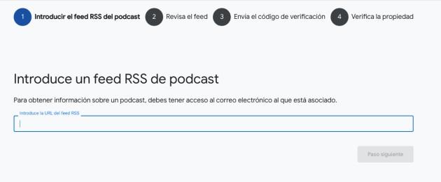 Primer paso como usar Google Podcast Manager: feed RSS