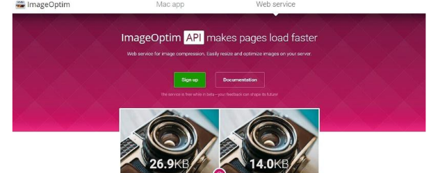 reducir el tamaño de tus fotos: ImageOptim