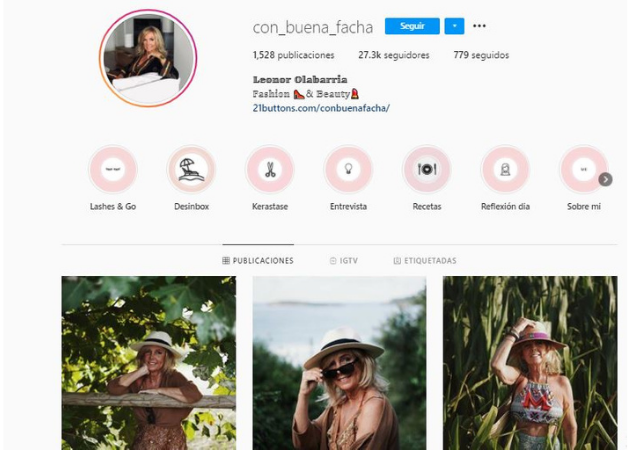 influencers seniors en Instagram: Leonor Olabarría