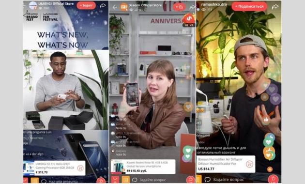 Live influencer para promocionar producto