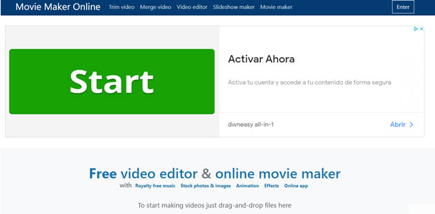 editores de video online