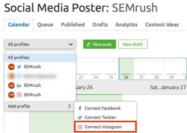 Análisis de Instagram con SEMrush