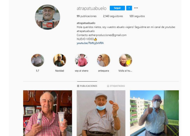 influencers seniors en Instagram: Atrapatuabuelo