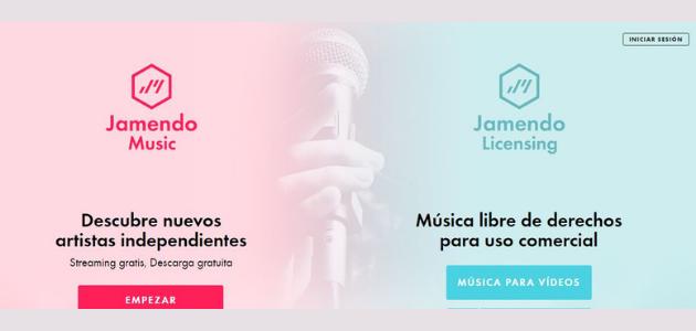 Jamendo: música sin copyright para vídeos
