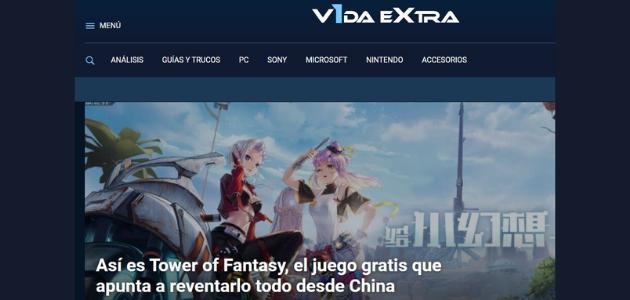 Portal web Vida Extra