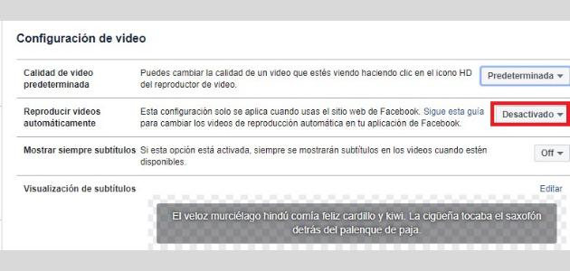 Facebook subtítulos