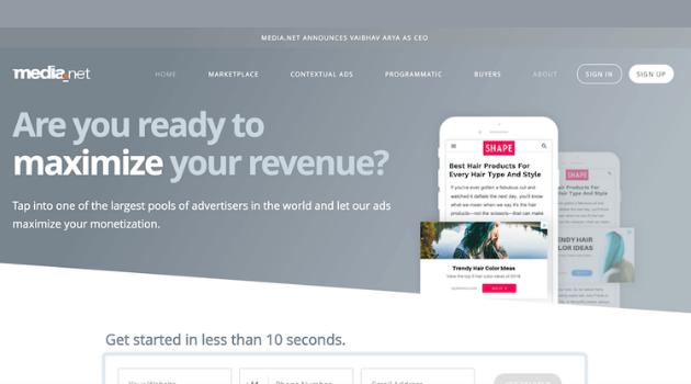 alternativas a AdSense: Media.net