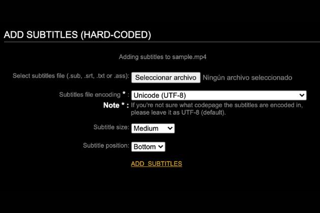 Add subtitlles