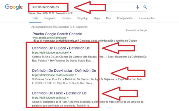 Web no indexada en Google