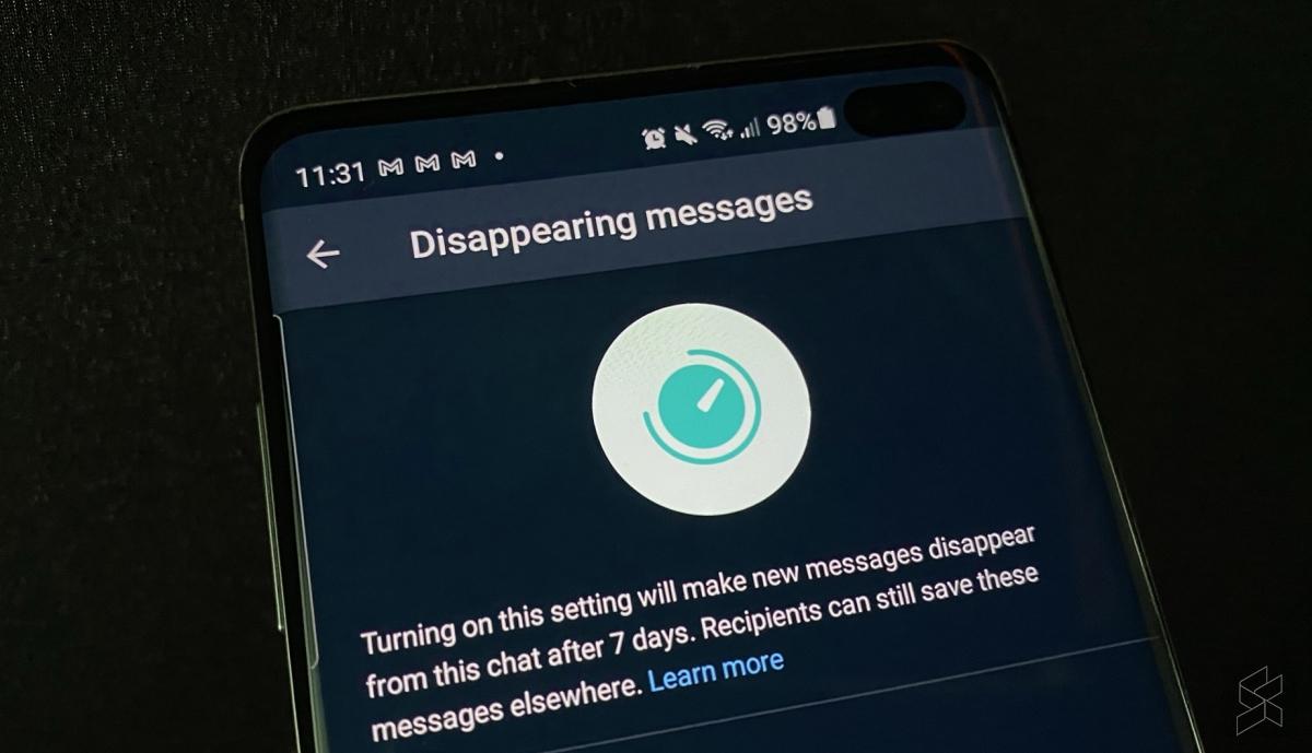 messaggi temporanei su WhatsApp