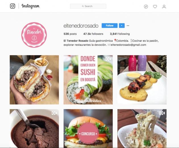 Promocionar un restaurante en redes sociales: Instagram